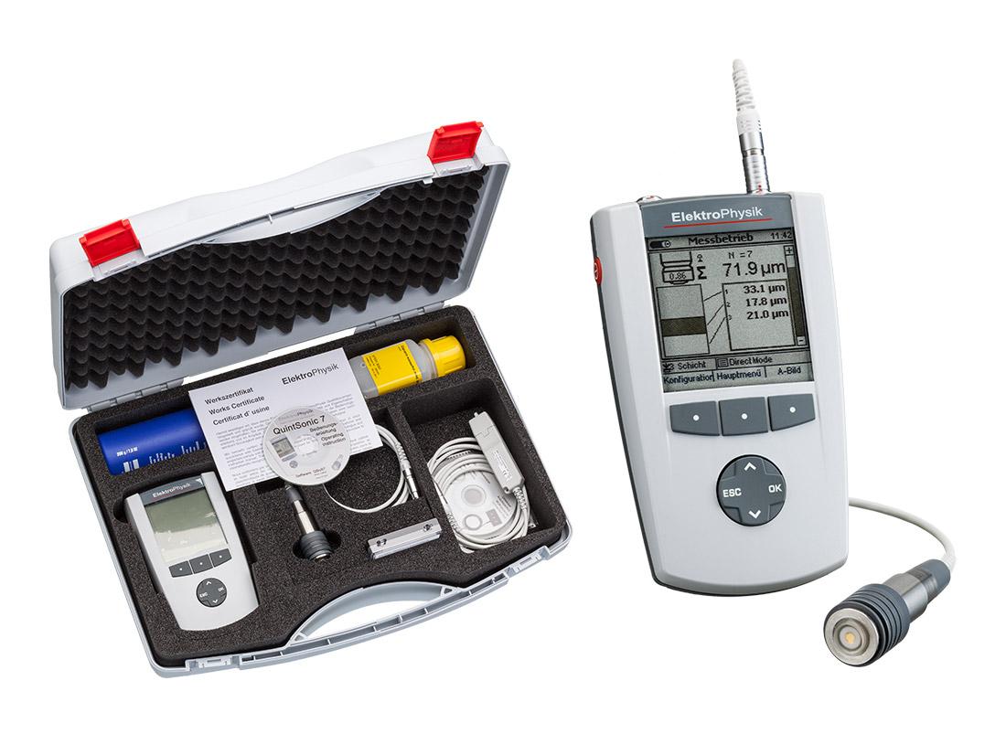Schichtdickenmessgerät: MiniTest QuintSonic 7 von Elektrophysik